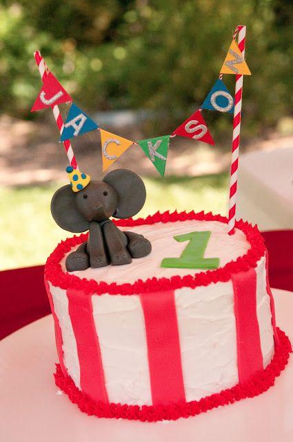Jackson's First Birthday - Carnival, Circus, Smash Cake