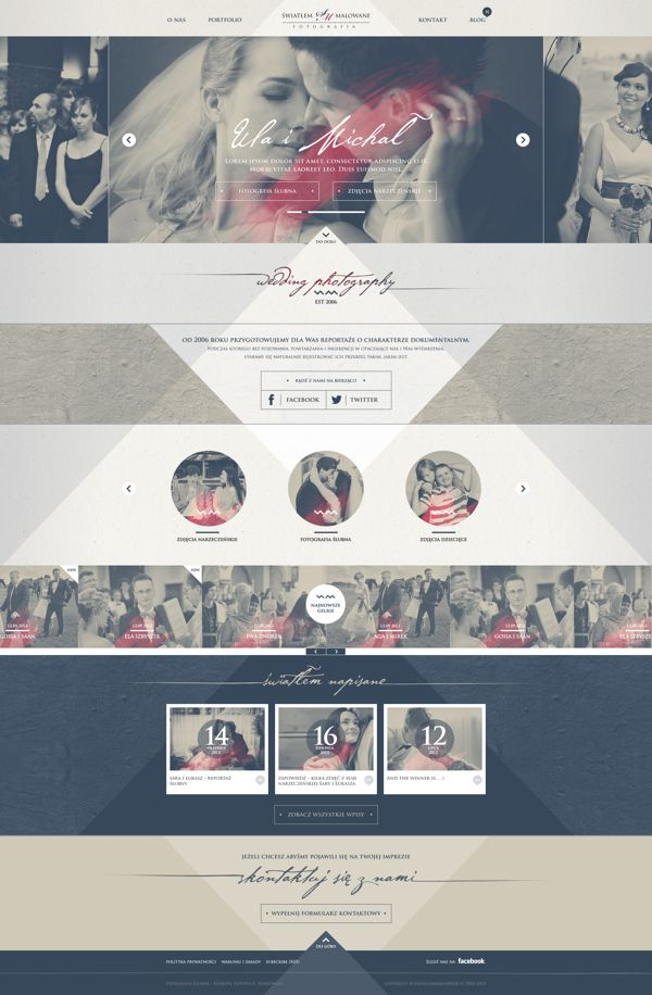 Webdesign by Adam Bałazy, via Behance