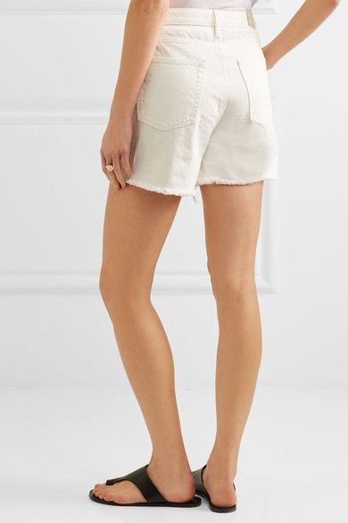 M.i.h Jeans - Caron Cut-off Denim Shorts - White - 32