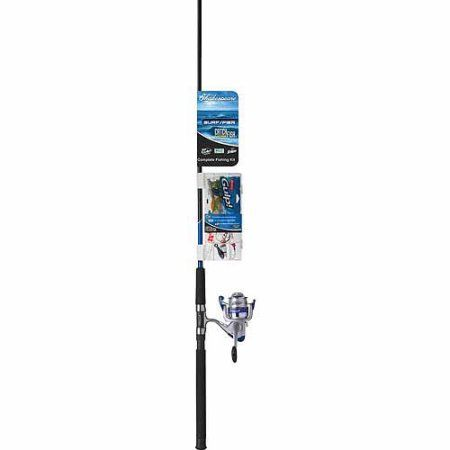 Shakespeare CMFSURFPIER8FT CMF Combo 8' Fishing Rod, Black