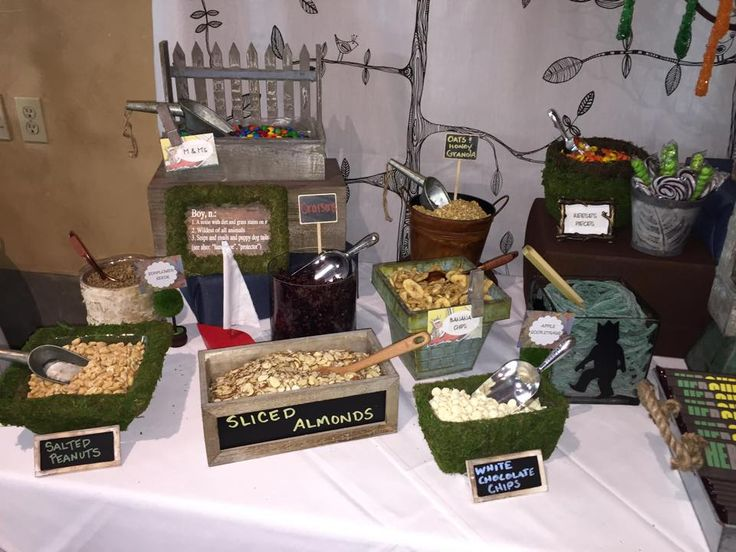 Where The Wild Things Are Trail Mix Bar Section Of Favor Table