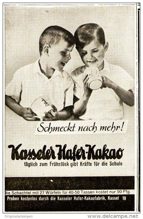 Original-Werbung/ Anzeige 1939 - KASSELER HAFER - KAKAO - ca. 65 x 110 mm
