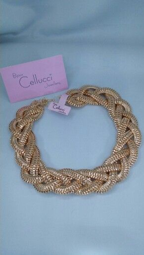 Cellucci jewellery gold braided necklace ♡♡ #fashion#jewellery#montreal