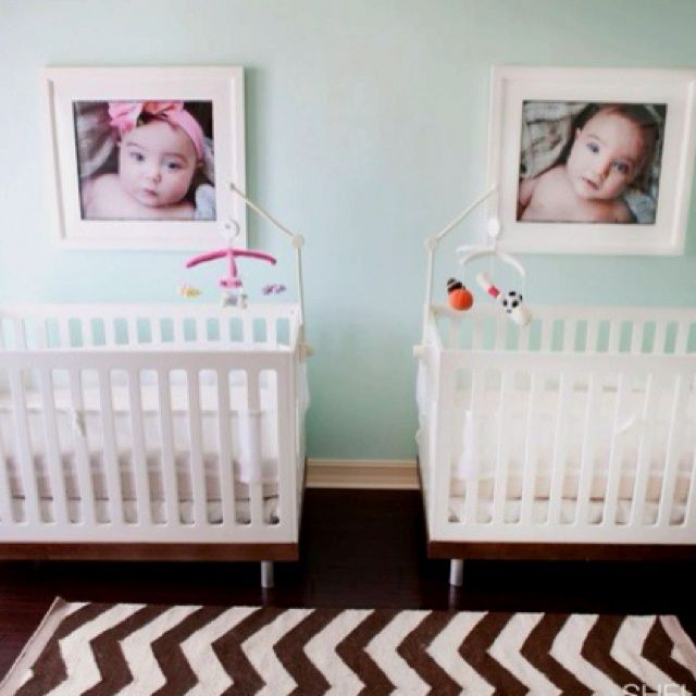 65 best bedroom for twin boy girl images on pinterest for Baby twin bedroom ideas