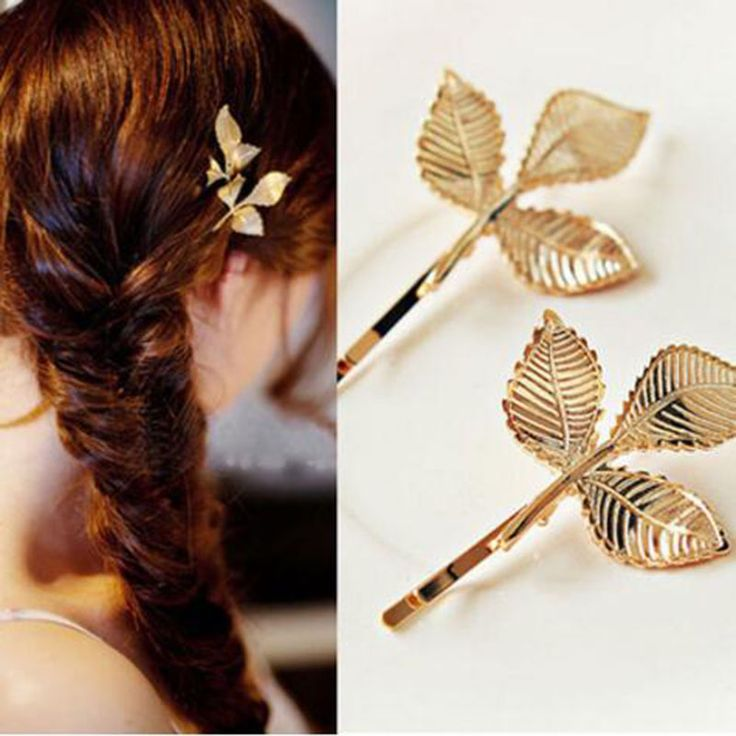 Hot Fashion Wedding Hair Accessories Olive Branches Leaves Beautiful Bride Hairpin Side Folder hair jewelry For Women C104-C107