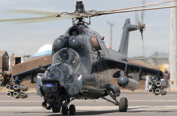 Russian Attack Helicopter Mi-24 SuperHind