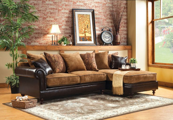 GASPARDSECTIONAL W/ PILLOWS [SM6101]Enjoy the traditional feel of this lovely sectional.   Sectional Sofa Sale of $1040