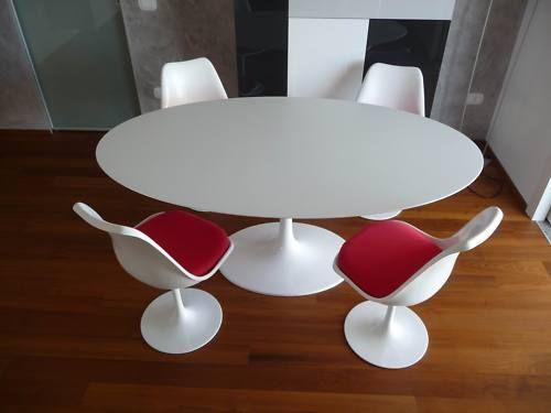 TAVOLO TULIP OVALE LAMINATO 120X75 LIQUIDO SAARINEN TABLE MADE IN ITALY | eBay