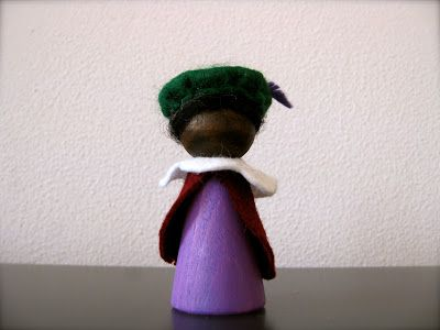 peg doll zwarte piet (+ werkbeschrijving)