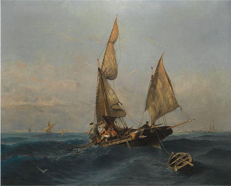 File:Κωνσταντίνος Βολανάκης - Ψαρόβαρκα σε Ταραγμένα Νερά.jpg