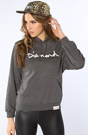 The OG Script Hoodie in Charcoal by Diamond Supply Co.