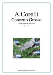 "Concerto Grosso Op.6 No.8 - ""Christmas"" (COMPLETE) sheet music for strings and harpsichord by Corelli"