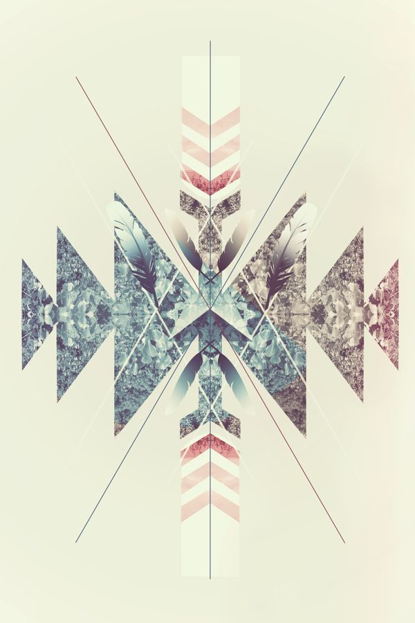 Seasonal iPhone Wallpa... Pastel Aztec Pattern Wallpaper