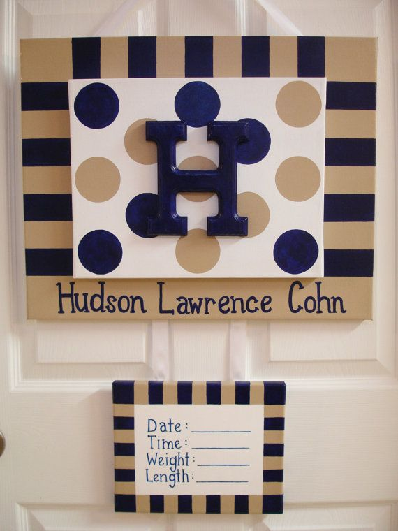 4Piece Painted Personalized Hospital Door Sign by TheGiftingSpot, $52.00