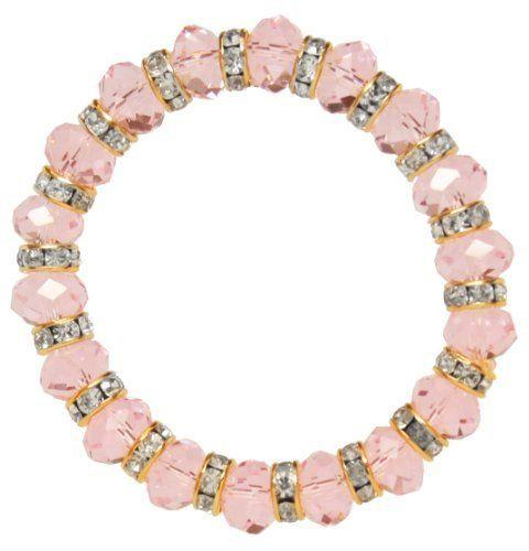 Pink Crystal Stretch Bracelet Jouel. Save 73 Off!. $7.99