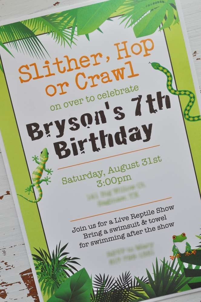 Reptile & Amphibian Birthday Party Ideas | Photo 1 of 12 | Catch My Party
