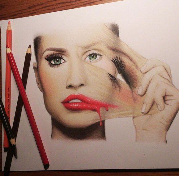 Creative artwork by Tanja Labudovic http://webneel.com/25-beautiful-color-pencil-drawings-valentina-zou-and-drawing-tips-beginners | Design Inspiration http://webneel.com | Follow us www.pinterest.com/webneel