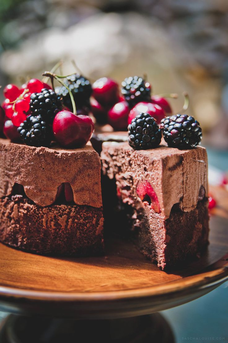 Black Forest Mousse Cake ~ A modern take on the traditional layer upon layer cherry torte that originated in Germany.