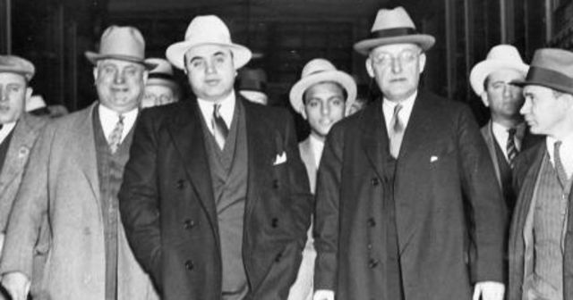 Which Famous Mobster Are You? AL CAPONE You got AL CAPONE! Al Capone was one of the most infamous mobsters, noted partially for his ruthless contribution to the 1929 St. Valentine's Day Massacre, wherein seven people working for Bugs Moran (who, it should be noted, was Capone's rival) were killed. Capone served time in Alcatraz, only adding to his infamy. To find out more about Al Capone's life, click here: http://www.crimemuseum.org/crime-library/al-capone