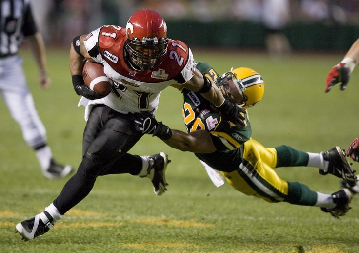 Joffrey Reynolds, all-time leading rusher for the Calgary Stampeders.