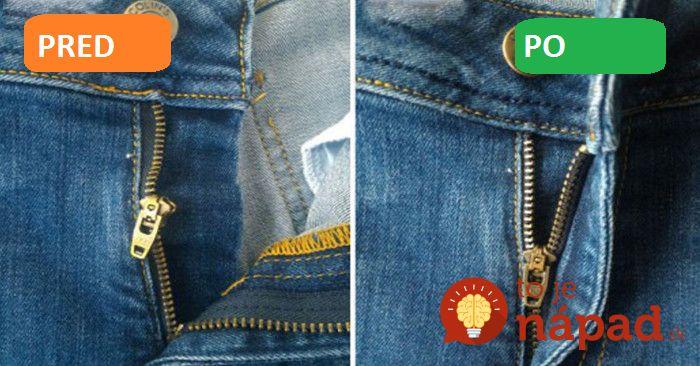 Perfektný trik, ako opraviť pokazený zips za pár minút!