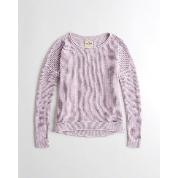 Hollister Drop-Shoulder Pullover Sweater ($35) ❤ liked on Polyvore featuring tops, sweaters, purple, pullover sweater, hollister co. sweaters, slouchy sweater, purple pullover sweater and slouch sweater