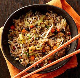 chinese+garlic+black-bean+pork+fried+rice