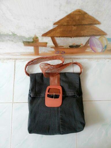 Recycle jeans bag #diy