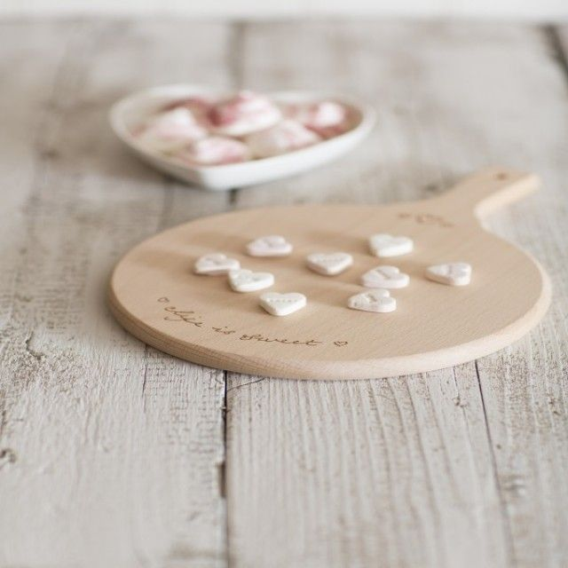 Sophie Conran for T&G 'Life is Sweet' Small Round Handled Beech Serving Board