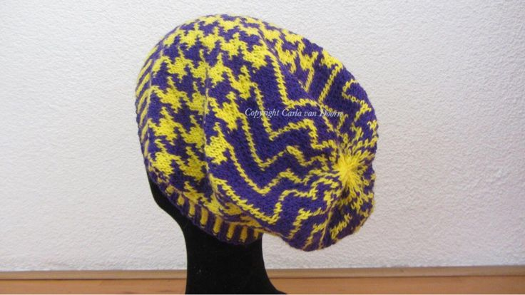 Fair-Isle knitted hat, Carla van Doorn Designs