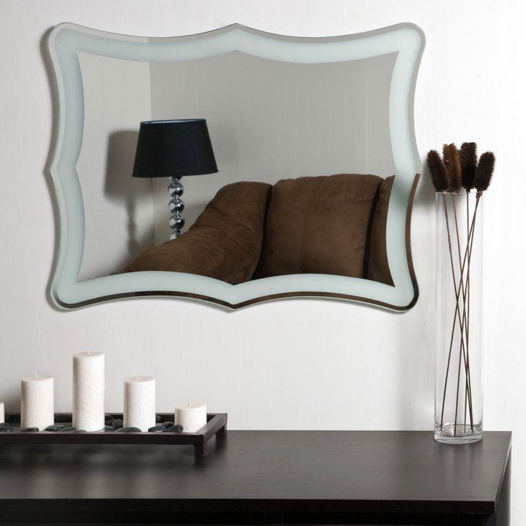 Décor Wonderland Coquette Modern Frameless Bathroom Mirror - 23.6W x 31.5H in. - SSM183