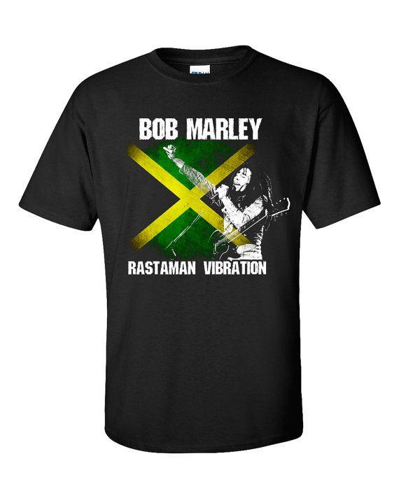 Bob Marley T-Shirt Rastaman Vibration Reggae Jamaica by 969Tshirts