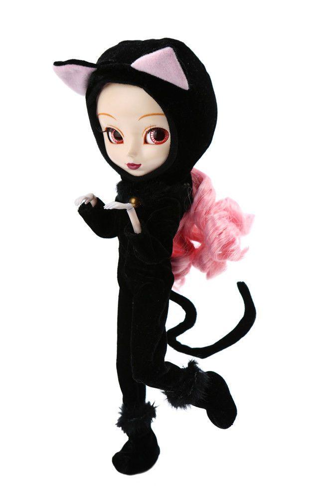 Pullip Doll / Puppe - Regeneration Series - Moon - Black Cat inkl. Plüsch-Katze