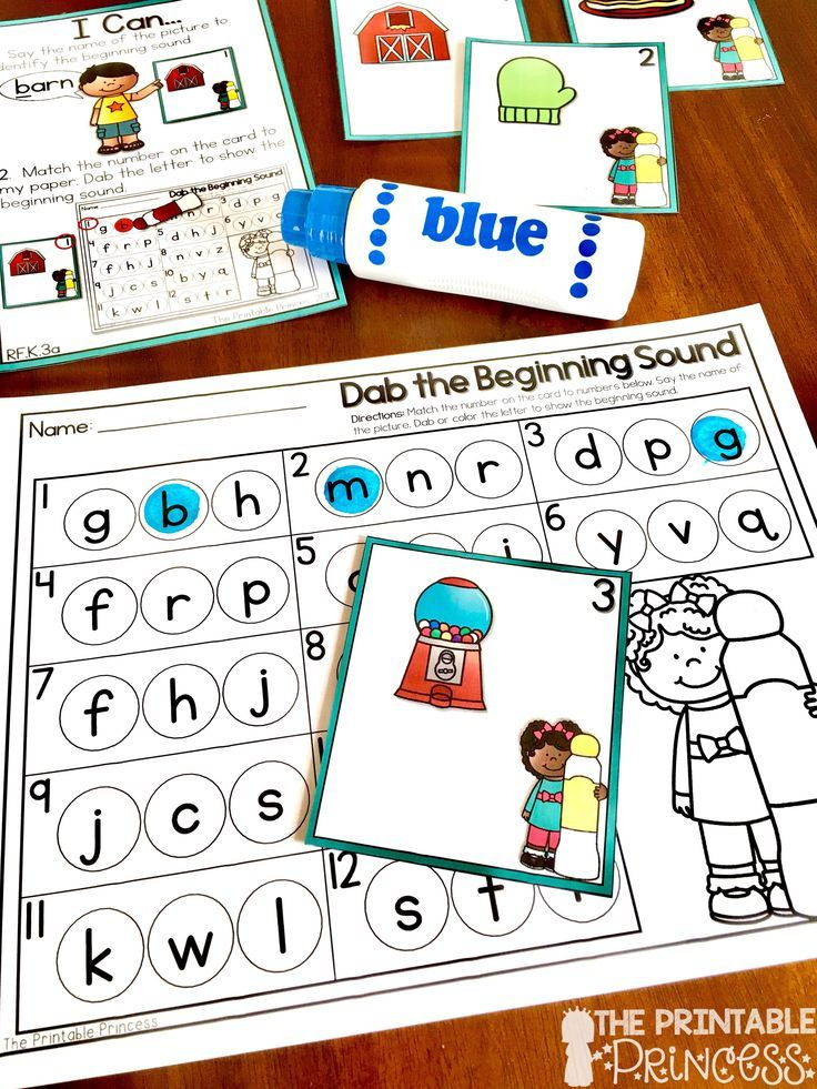 A Dab of Learning FREEBIE {2 Activities Beginning Sounds