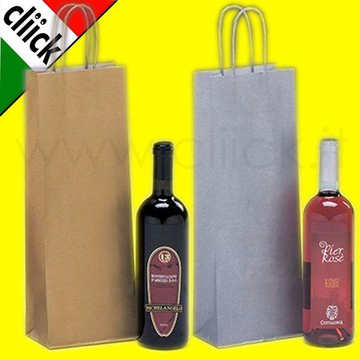 12 Sacchetti Borse Buste Carta Bottiglie Vino Liquore Spumante Olio Regalo kraft