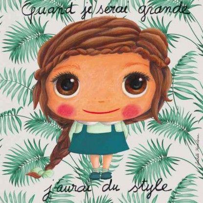 Tableau Style d'isabelle kessedjian pour label tour quand je serai grande, j'aurai du style.