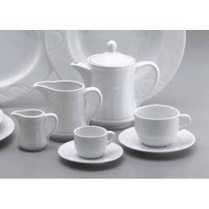 Ceainic realizat din portelan alb. Are capacitate de 800 ml.