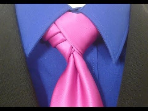 ▶ How to Tie a Tie Velvet Knot for your Necktie - YouTube