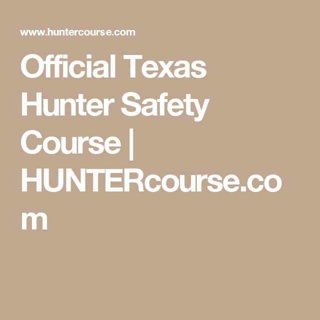 Official Texas Hunter Safety Course | HUNTERcourse.com