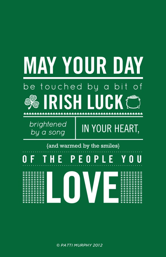 St. Patrick's Day, Irish Blessing poster printed on thick luscious paper. $40 via etsy shop.  St Patrick s Day