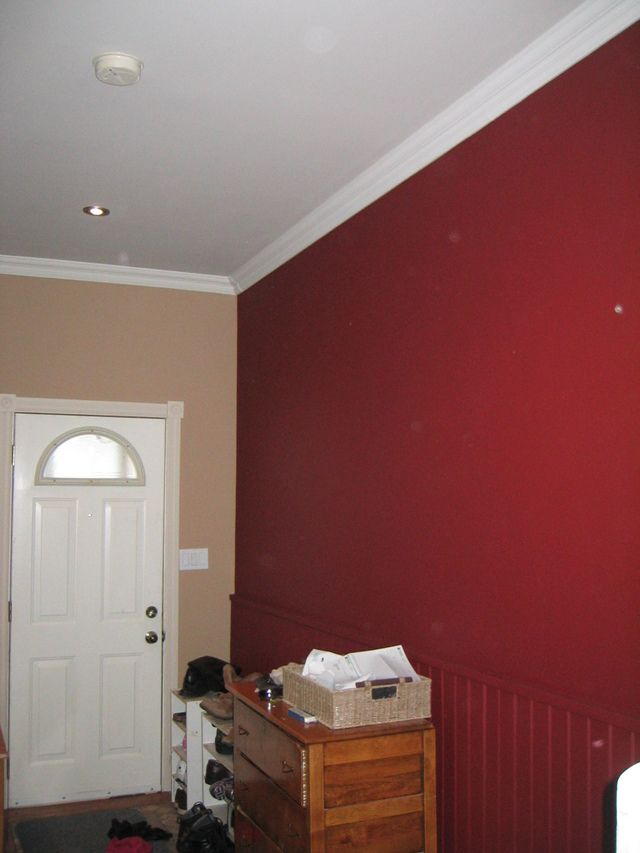 Thinking Of Doing Red With White Walls Since Our Baseboards Are Taupe Instead For The Home In 2019 Room Paint