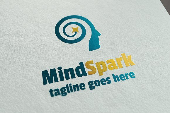 MindSpark Logo Template by It's a Small World on @creativemarket #logo