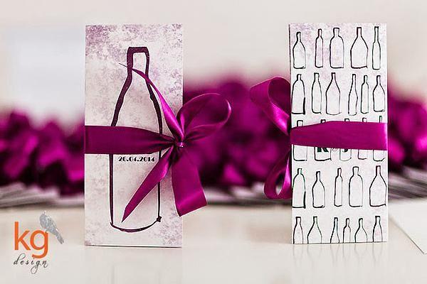 KG Design Papeteria Ślubna | z motywem butelki wina