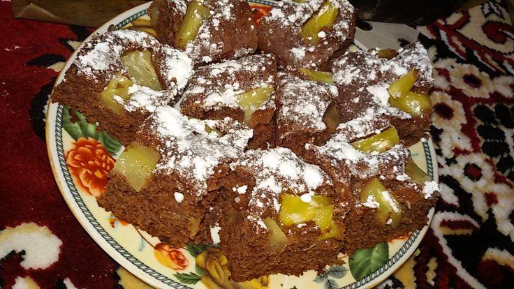Reteta culinara Negresa de post cu compot de ananas din categoria Mancaruri de post. Cum sa faci Negresa de post cu compot de ananas