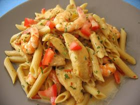 This is another quick and easy pasta dish with wonderful spicy cajun flavor. I used shrimp and chicken for this dish but you can use any kin...