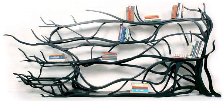 chilean born, new york-based designer and artist sebastian errazuriz's 'metamorphosis' bookshelf  - amazing