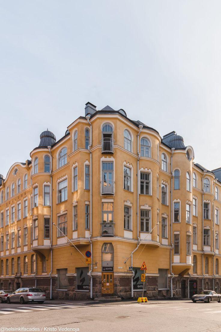 Helsinki, Finland.Photo Kristo Vedenoja @helsinkifacades Bellona-rakennus Luotsikatu 8