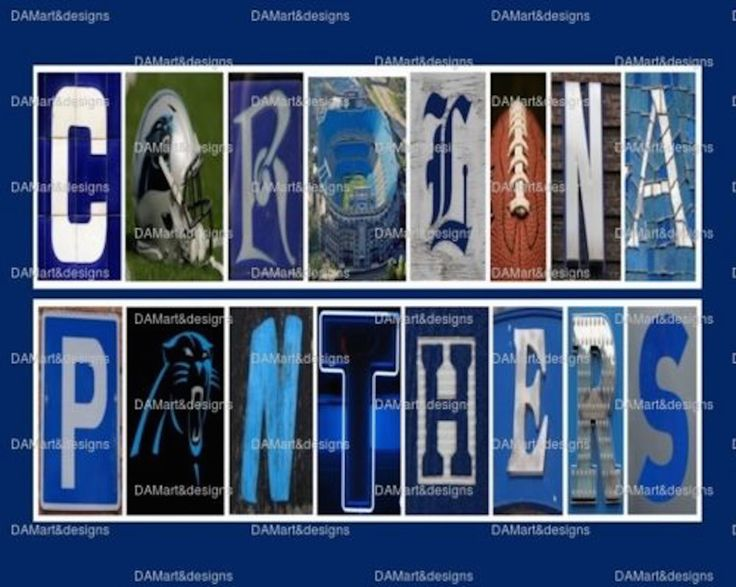 NFL Carolina Panters Framed Alphabet Photo Art by DAMartStudio on Etsy