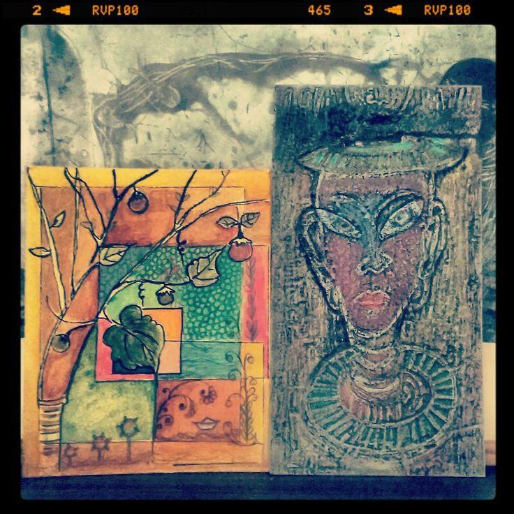 Print +Painting+Mix Media