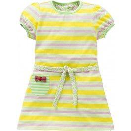 Tracy+jersey+jurk+geel+roze+streep+$34.90